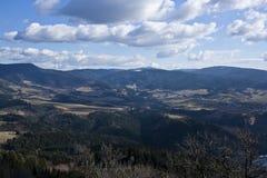 Amaizing view. Slovak small villiage Strelniky on top of Vysoka peak. Amaizng view Stock Photo