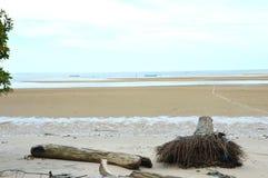 Amal海滩Tarakan,印度尼西亚 库存图片