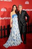 Amal Clooney et George Clooney images stock
