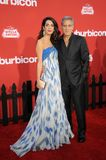 Amal Clooney and George Clooney Stock Images
