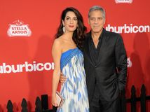 Amal Clooney and George Clooney Royalty Free Stock Photo