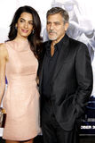 Amal Clooney and George Clooney stock image