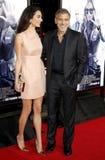 Amal Clooney och George Clooney Royaltyfri Fotografi