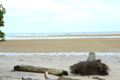 Amal-Strand Tarakan, Indonesien Stockbild