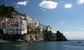 Amalfi. Town on the  coast, Campania, Italy stock photo