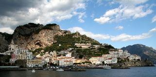 Amalfi. Town on the  coast,Campania,Italy royalty free stock photography