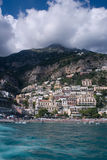 Amalfi. The Amalfi coast with clouds in the mountains Stock Images