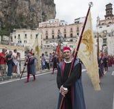 Amalfi, Ausgabe 61 von historischer Regatta des See-Republ stockbilder