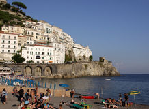 Amalfi Beach Stock Photography