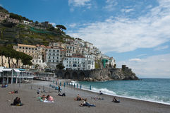 The amalfi beach in Amalfi Coast Royalty Free Stock Photography