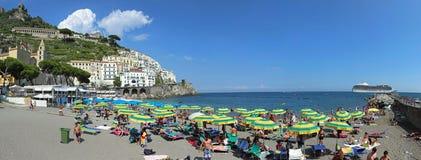 Amalfi Beach Stock Photo