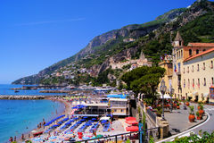 Amalfi beaches Stock Images