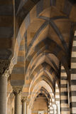 Amalfi Cathedral Arches. A shot from under the arches of the Amalfi Cathedral Stock Photo