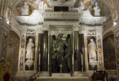 Amalfi Cathedral, Crypt of St. Andrew, altar Stock Photos
