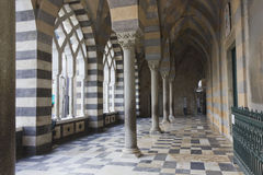 Amalfi Cathedral, external colonnade. Stock Photo