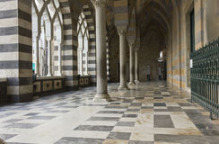 Amalfi Cathedral, external colonnade. Royalty Free Stock Image