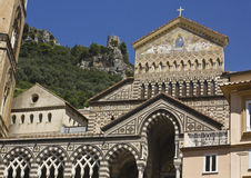 Amalfi Cathedral. Amalfi, Italy: Amalfi Cathedral (it.Duomo di Amalfi), a Roman Catholic structure, dedicated to the Apostle Saint Andrew. Predominantly of Arab Royalty Free Stock Photography