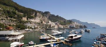 Amalfi cityscape Stock Images