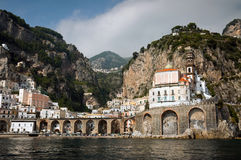Amalfi Coast. From the Sea, in Italy Royalty Free Stock Image