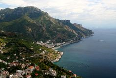 Amalfi Coast. Shot from Ravello,Campania,Italy royalty free stock photography