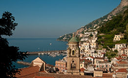 Amalfi coast. View on a Amalfi city in Campagnia Stock Photo