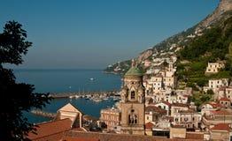 Amalfi coast. View on a Amalfi city in Campagnia stock photo