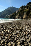 Amalfi coast. Landscape of amalfi coast with sea and beach stock photography