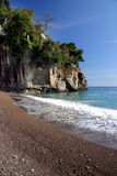 Amalfi coast. Landscape of amalfi coast with sea and beach royalty free stock image