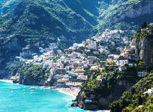 Amalfi-coast. Typical old town at the amalfi-coast in italy Stock Photos