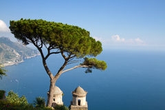 Amalfi coast as seen from Ravello Royalty Free Stock Photo