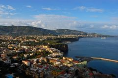 Amalfi Coast - Bay of Sorrento. The Bay of Sorrento on the West Coast of Italy at Sunrise Stock Photo