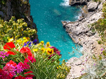 Amalfi Coast Capri Italy. View of bay in Capri Italy Stock Image