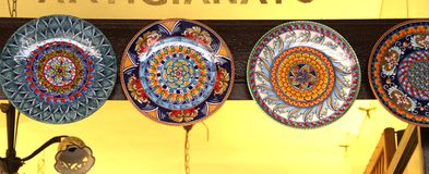 Amalfi coast ceramic dish. Amalfi coast traditional ceramic dish Stock Photography