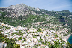 Amalfi Coast Covered in Homes Stock Images