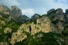 Amalfi Coast. Dramatic shot of Coastline mountains Royalty Free Stock Image
