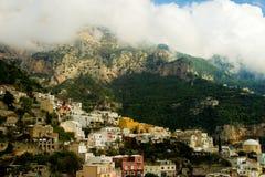 Amalfi Coast. Dramatic shot of Coastline village Stock Images