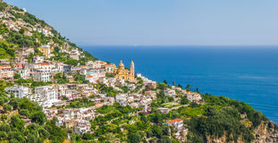 Amalfi Coast with Gulf of Salerno, Campania, Italy Stock Images