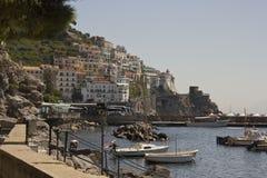 Amalfi Coast harbour Stock Photos