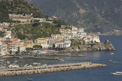 Amalfi Coast harbour Stock Photo
