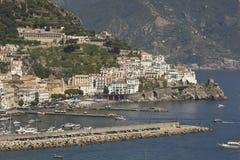 Amalfi Coast harbour Stock Photo