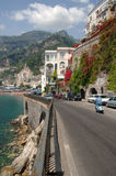 Amalfi Coast, Italy. Amalfi Coast road in Italy royalty free stock image