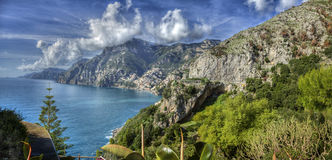The Amalfi Coast, Italy. Aerial view of the mountains, the Mediterranean Sea, the Amalfi Coast, Italy Royalty Free Stock Image