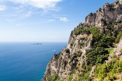 Amalfi Coast in Italy, Europe. Royalty Free Stock Photography