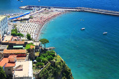 Amalfi Coast, Italy, Europe. Amalfi Coast - luxurious touristic destinationin Europe royalty free stock images
