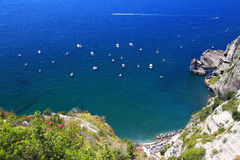 Amalfi Coast, Italy, Europe. Amalfi Coast - luxurious touristic destinationin Europe stock photography