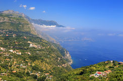 Amalfi Coast, Italy, Europe. Amalfi Coast - luxurious touristic destinationin Europe royalty free stock photos