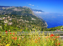 Amalfi Coast, Italy, Europe. Amalfi Coast - luxurious touristic destinationin Europe stock photo