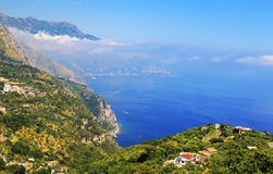 Amalfi Coast, Italy, Europe. Amalfi Coast - luxurious touristic destinationin Europe royalty free stock photo