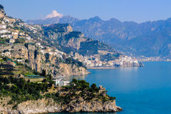 Amalfi Coast, Italy. One of Italy's great coastal roads runs along the Amalfi coast, which is dotted with quaint towns, backed by sheer mountains and looking out Royalty Free Stock Photos