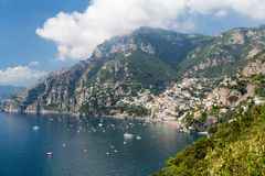 Amalfi Coast in Italy. Scenic view of the Amalfi Coast in Italy. The Amalfi Coast is a stretch of coastline on the southern coast of the Sorrentine Peninsula in stock images